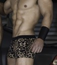 Sportive Swim Trunks With Animal Print made from a mix of Poliamide and Lycra. Tight Boxer, Low & Sexy cut. Perfect Adjustment. Fit to your body perfectly thanks to our special cut and shape.
