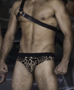 Sportive Animal Print Swim Briefs. Made From a Mix of Poliamide and Lycra. Great Sexy Cut. Perfect Adjustment. Fit to Your Body Perfectly Thanks to Our Special Cut and Shape.