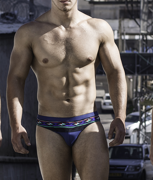 Our Diamond Navy Blue Sportive Swim Briefs. Made From a Mix of Poliamide and Lycra. Great Sexy Cut. Perfect Adjustment. Fit to Your Body Perfectly Thanks to Our Special Cut and Shape.