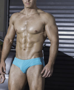 Classic Turquoise Swim Briefs. Made From a Mix of Poliamide and Lycra. Great Sexy Wide Cut. Perfect Adjustment. Fit to Your Body Perfectly Thanks to Our Special Cut and Shape.