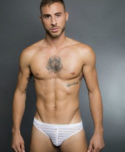 Egick Men Underwear - Sheer White Bikini Brief