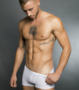 Egick Men Underwear - Sheer White Boxers