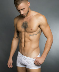 Egick Men Underwear - Sheer White Boxers