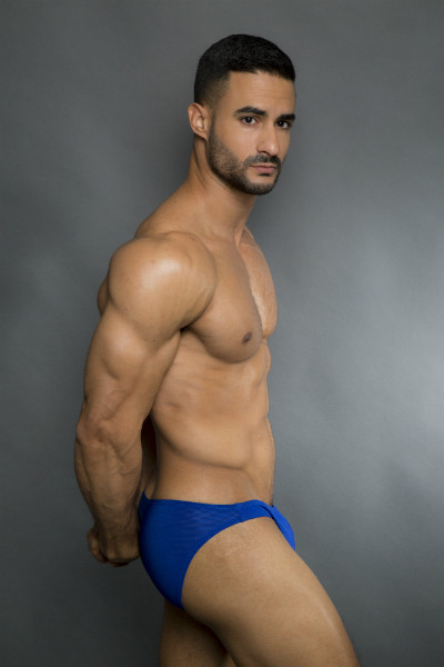Egick Men Underwear - Body Building Posing Underwear Dark Blue