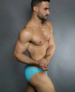 Egick Men Underwear - Body Building Posing Underwear Turquiose