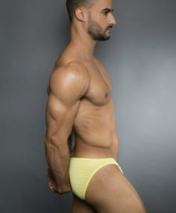 Egick Men Underwear - Body Building Posing Underwear Yellow
