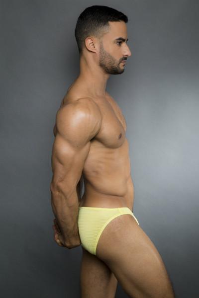 Egick Men Underwear - Body Building Posing Underwear Yellow