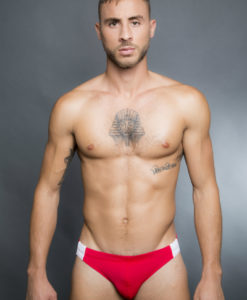 Egick Men Swimwear - Fire Red White Combo