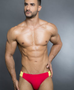 Egick Men Swimwear - Fire Red Yellow Combo