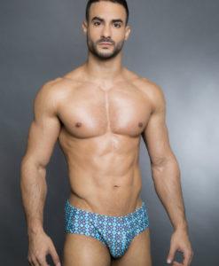Egick Men Swimwear  - Wide Retro Blue