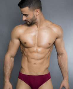 Egick Men Underwear - Bikini Soft Cotton Bordeaux