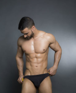 Black Speedo Cut - Swim Briefs With 2 Colors On The Back. Great For The Beach Or Pool In The Summer