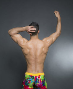 Sportive Printed Swim Trunks Made From a Mix of Poliamide and Lycra Fabrics. Great For The Beach Or Pool In The Summer