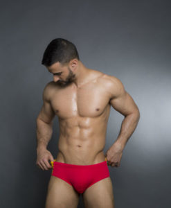 Wide Speedo Cut - Swim Briefs With Spanish Colors On The Back. Great For The Beach Or Pool In The Summer