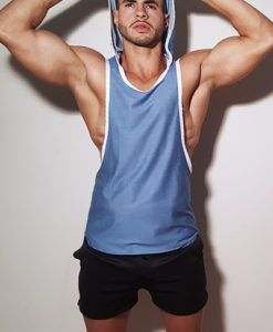 Jeans Color - Sportive Look - Top/Singlet With A Hoodie