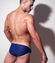 Classic Wide Briefs Swimwear, Swimsuit With Great Blue Print Inspired By Spiderman For Summer At The Pool and Beach.