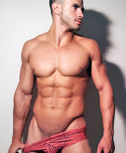 Classic Wide Briefs Swimwear, Swimsuit With Great Red Print Inspired By Spiderman For Summer At The Pool and Beach.